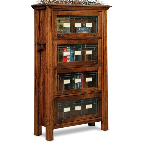 barrister bookcase leaded glass barrister bookcase solid wood handmade leaded glass