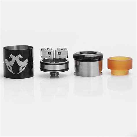 Atomizer Vape Rda Obs Cheetah V2 Authentic Black Only Authentic Obs Cheetah Ii Mini Rda Black 22mm Rebuildable