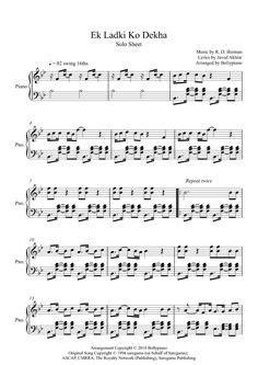 Bekhayali Piano Notes | Kabir Singh | Piano Solo Sheet