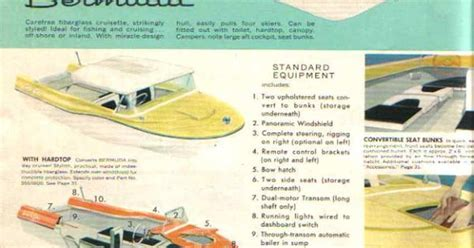 old boat brochures 1950s boats with fins lone star boats and trailers 1957