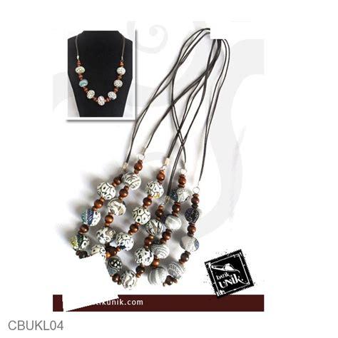 Kalung Etnik Warna kalung batik etnik tali warna putih kalung etnik