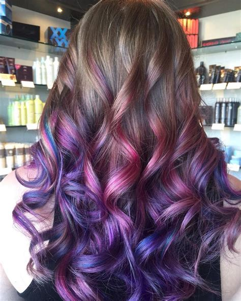 hair color 201 40 versatile ideas of purple highlights for blonde brown