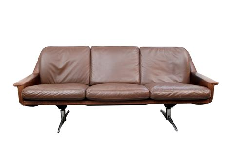German Leather Sofa by Vintage German Leather Three Seater Sofa For Sale At Pamono