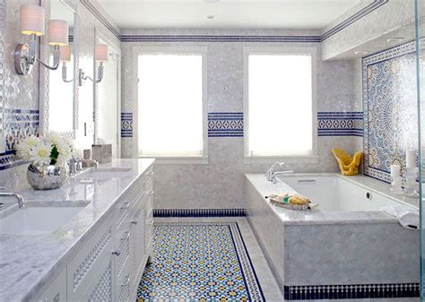marokkanische badezimmer blue moroccan mosaic tile bathroom in cape cod