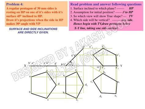 section plane engineering drawing projection of planes 007