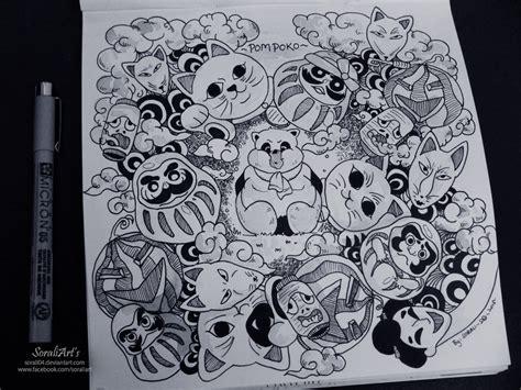 how to use a doodle ghibli doodle pompoko doodle 9 by sorali04 on deviantart