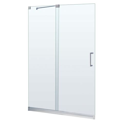 Glass Shower Doors Lowes Shop Dreamline Mirage 44 In To 48 In W X 72 In H Frameless Sliding Shower Door At Lowes
