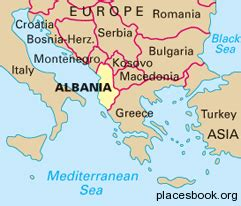 albania map  places  travel tourism directory