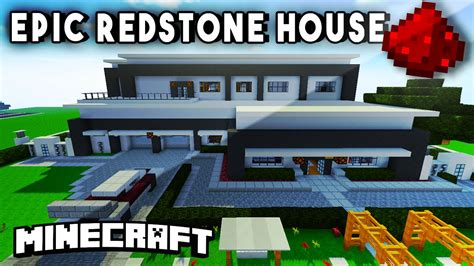 minecraft redstone house modern redstone mansion fully functional minecraft redstone house youtube