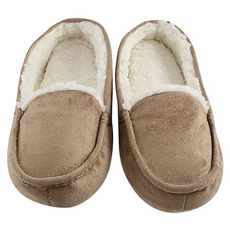 bed bath and beyond slippers buy loft living large memory foam hidden sole slipper in