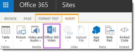 Office 365 Portal Embed Embed A From Office 365 Office Support