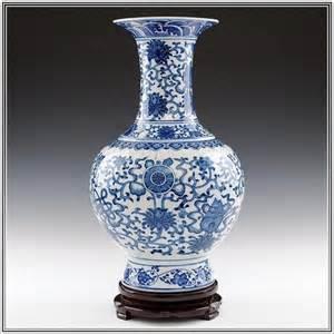 antique blue and white porcelain vase home