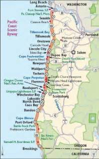 map of oregon california coast trips highway map and buckets on