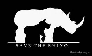 Save the rhino quot posters by thekohakudragon redbubble