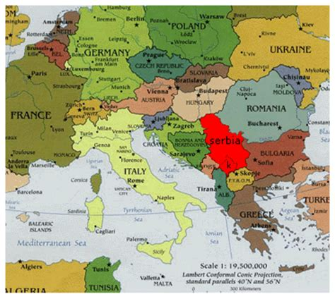 where is serbia on the map where is serbia