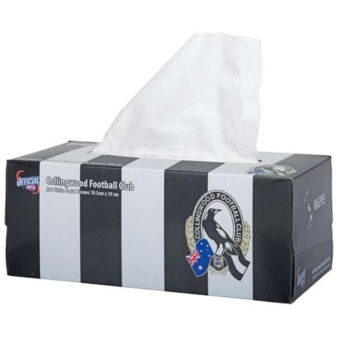Small Tissue Box 2 buy afl tissue box 2ply collingwood magpies 200 at