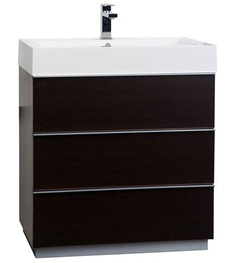29 bathroom vanity buy 29 25 single bathroom vanity set in espresso optional mirror rs l750 wg