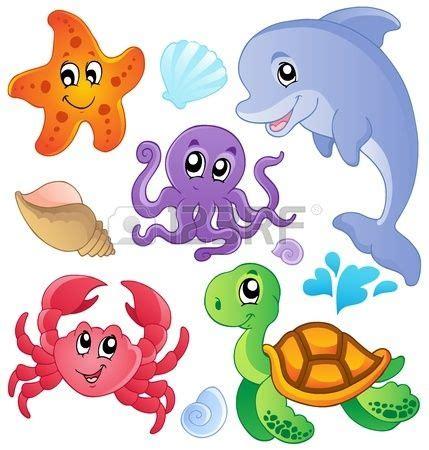 imagenes animales marinos animados dibujos animados de peces y animales marinos buscar con