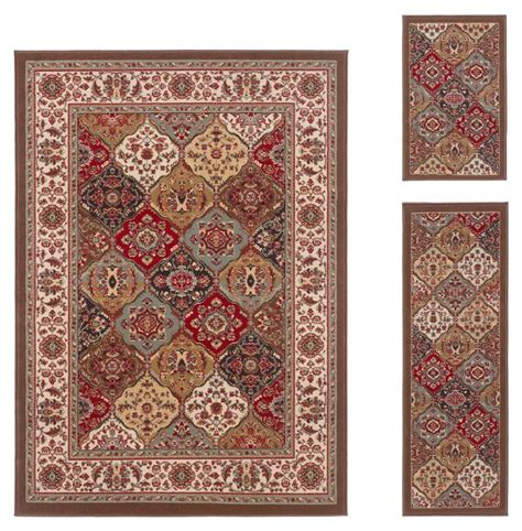 accent rug sets mainstays sonata rug 3 piece set taupe cream walmart com