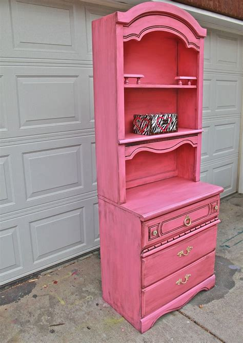 pink dresser hutch dresser distressed shabby chic