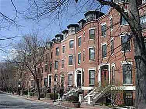 Boston Row Houses - a row over row houses raise the hammer