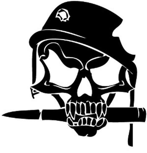 Kaos Big Size Kaos Militer Navy Seal Army Xxxl Xxxxl skull bites bullet sticker skull bite bullet 3 00