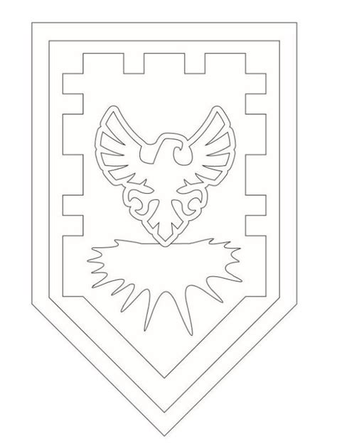 coloring page of a knight s shield kids n fun com coloring page lego nexo knights shields 2