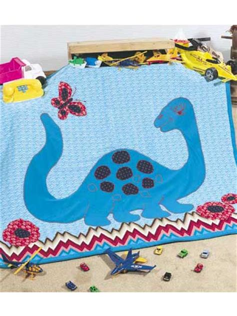 Dinosaur Quilt Patterns For Free by Free Quilt Patterns For Polly Dinosaur Baby Quilt