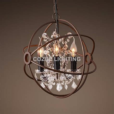 Orbit Chandelier With Crystals by Best Orbit Chandelier Foucault039s Orb Wrought