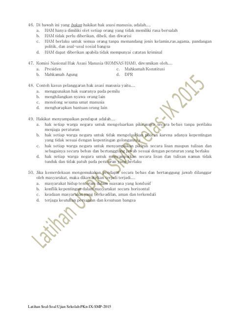soal ujian sekolah pkn kelas 6 latihan soal ujian sekolah pkn smp kelas ix 2015 pkn smp
