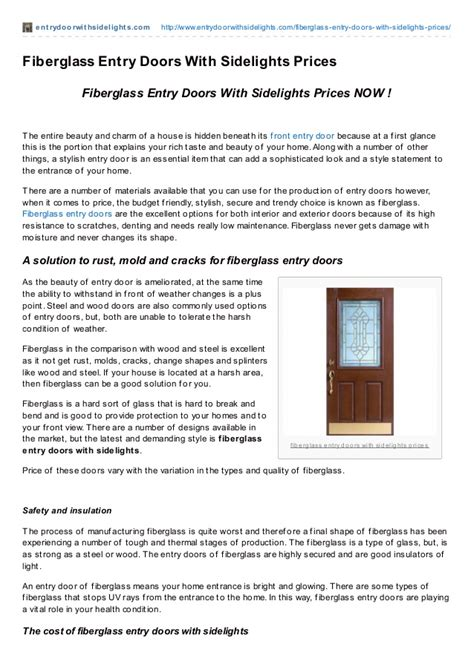 fiberglass entry doors with sidelights prices