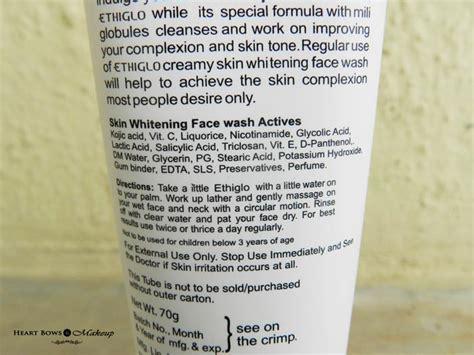 Skin Detox Ingredients by Ethiglo Skin Whitening Cleansing Wash Review