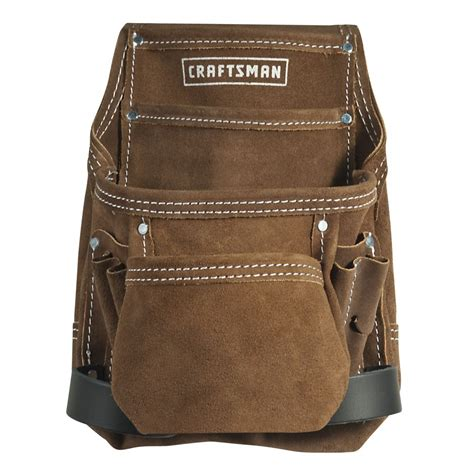 craftsman 10 pocket suede nail and tool pouch tool belts