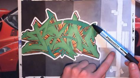 wildstyle graffiti sur papier graff speed drawing