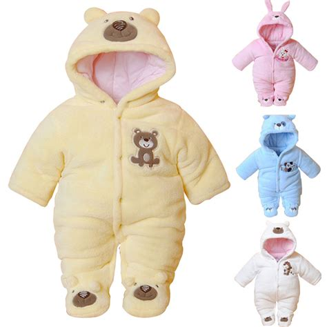 baby rompers newborn baby rompers hooded winter baby clothing
