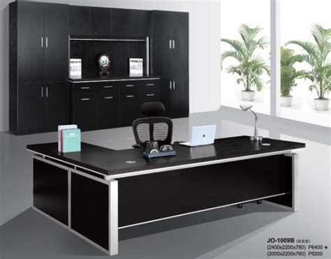 black executive office desk modern hi class black office executive table furniture