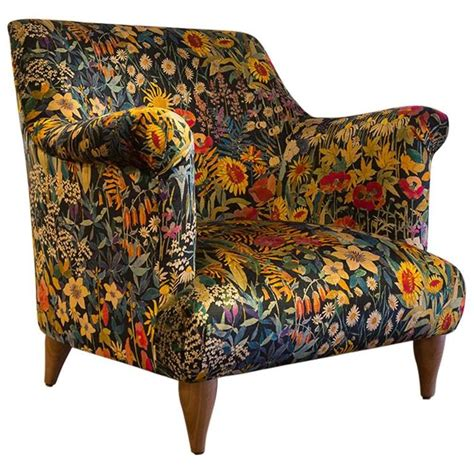 liberty armchair goddard armchair in liberty faria flowers marigold velvet