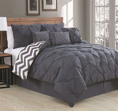 gray queen size comforter sets luxurious reversible 7 piece comforter set queen size