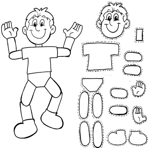 partes de la cara dibujo para colorear cuerpo humano para armar dibujo para colorear del cuerpo