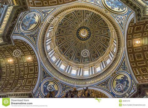colorful on vatican ceiling dome st s basilica inside stock photo image 45391475