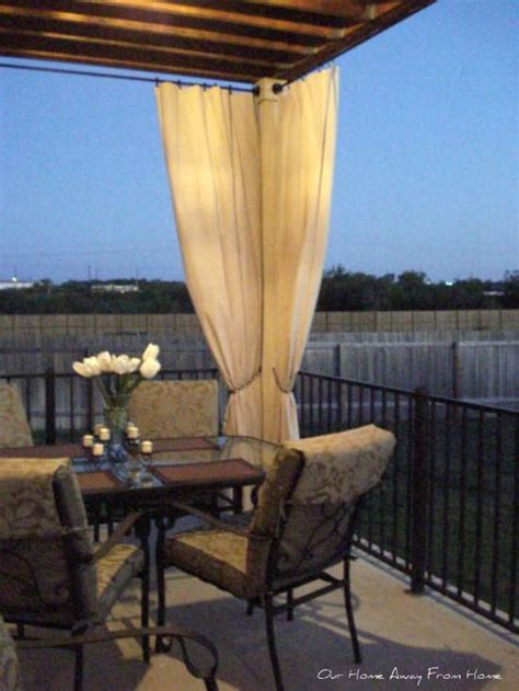 canvas drop cloths for outdoor curtains 17 best images about outdoor elegance on pinterest great