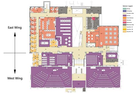 lecture hall floor plan building of requirement liberating academic interior