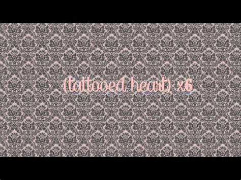 tattooed heart letra y traduccion ariana grande tattooed heart lyrics youtube