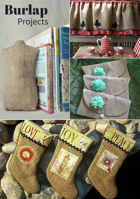 burlap crafts projects tips for how to sew burlap