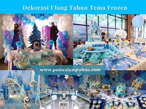 Aksesoris Ultah Anak Tema Frozen dekorasi ulang tahun anak perempuan tema frozen pesta