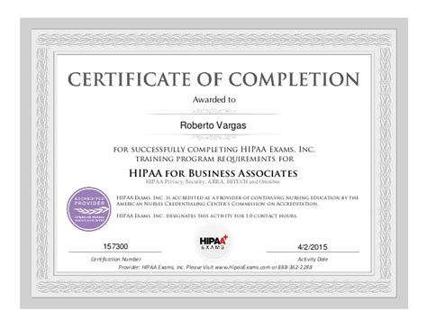 marriage counseling certificate of completion template hipaa for business associates certificate of completion
