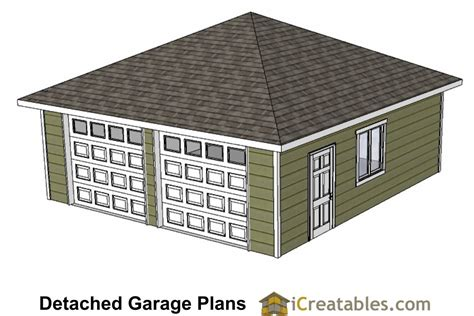 Garage Plans Hip Roof 24x24 garage plans with hip roof