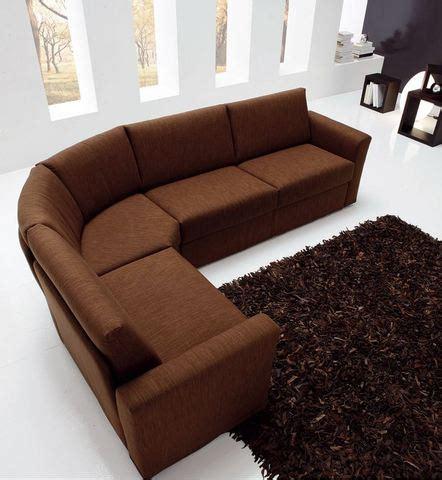divano angolo tondo divano angolo tondo stoffa marrone roma grandi sconti