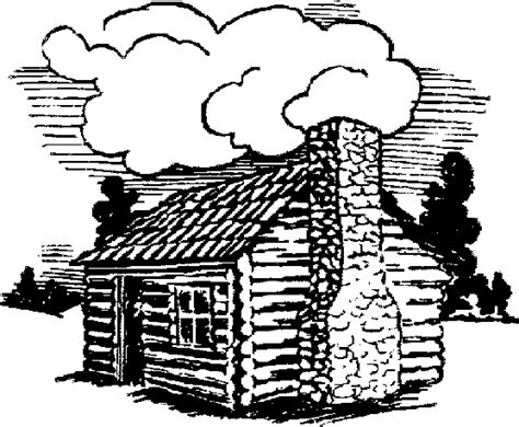 log house coloring page free coloring pages