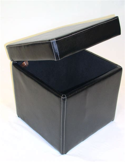 leather lift top ottoman 4d concepts faux leather box ottoman w lift top in black